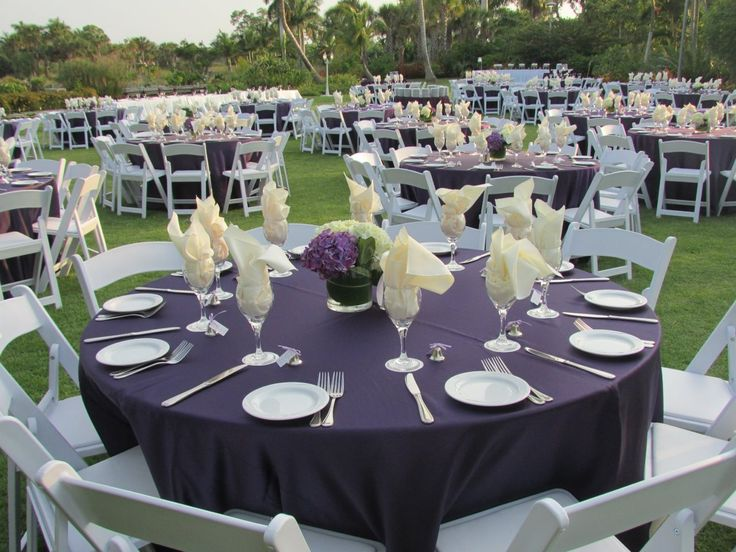 Captivating Moga Wedding Purple Ivory Tablecloths Outdoor Wedding Hydrangeas