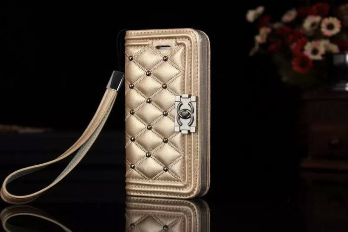 オシャレ iPhone6(6S) plusケース リベット シャネル アイフォン6(6S)カバー 財布 カード入れ