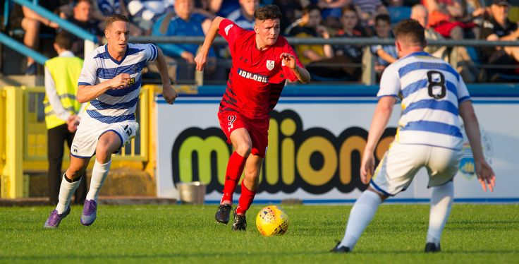 Queen's Park's Ewan MacPherson in action during the Betfred Cup game between Morton and Queen's Park