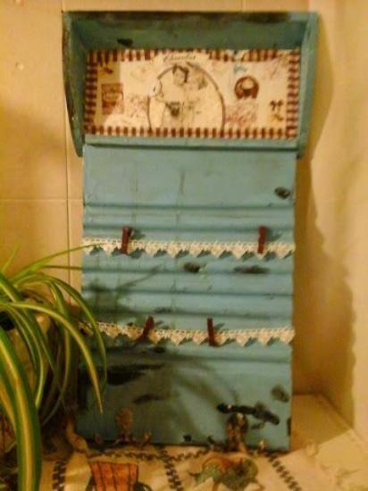 tabla de lavar vintage recuperada cocina,