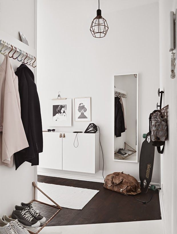 Tiny and Cozy Scandinavian Apartment. A small space but how it's styled impacts as well.