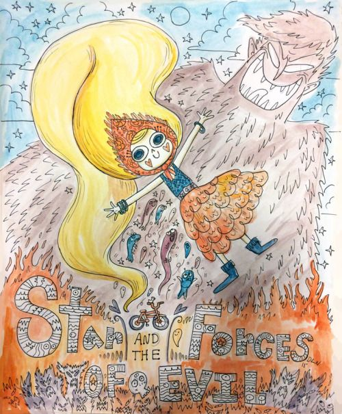 "Star is finally going to be on TV! This was a Star watercolor I made back in 2011, back when it was ""Star and the Forces of Evil."" Star has come so far and I'm so excited for everyone to finally meet her! Don't miss the ""Star vs the Forces of Evil"" preview Sunday, Jan. 18 at 9/8c!!!!!"