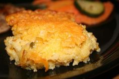 Corn Casserole (Paula Deen) from Food.com: Corn Casserole Recipe courtesy Paula Deen I have had this at a pot-luck lunch at work and it is FABULOUS!!! I wanted the recipe to put in my cookbook so I decided to list it on here...Enjoy!!