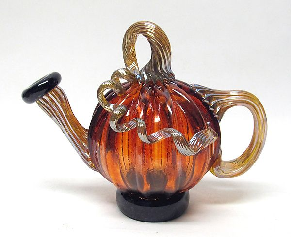 Aurora Teapot by Ken Hanson and Ingrid Hanson: Art Glass Teapot available at www.artfulhome.com