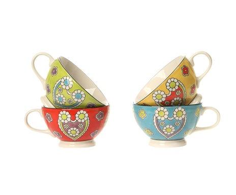 set di tazze in ceramica Oriental