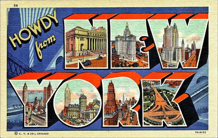 postcard - Greetings from New York