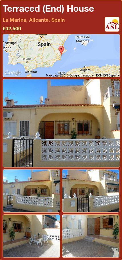 Terraced (End) House in La Marina, Alicante, Spain ►€42,500 #PropertyForSaleInSpain