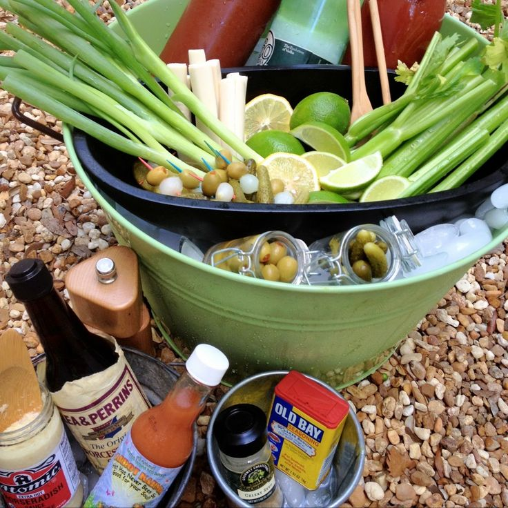 Bloody Mary Bar Set Up | An Appealing Plan_Bloody Mary Bar_All Items Set up