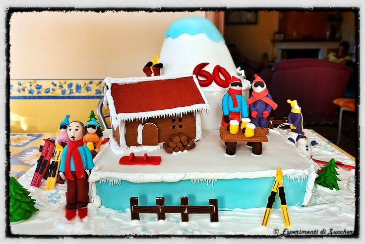 Winter landscape cake
