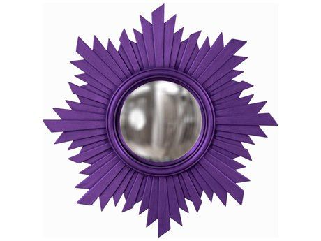 Howard Elliott Euphoria 21 Round Royal Purple Wall Mirror