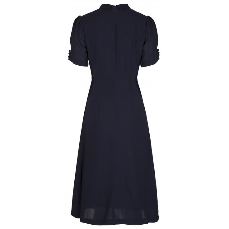 'Amelia' Navy Tea Dress