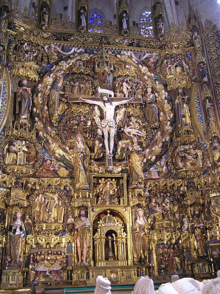 Retablo de la iglesia de la Cartuja de  Miraflores