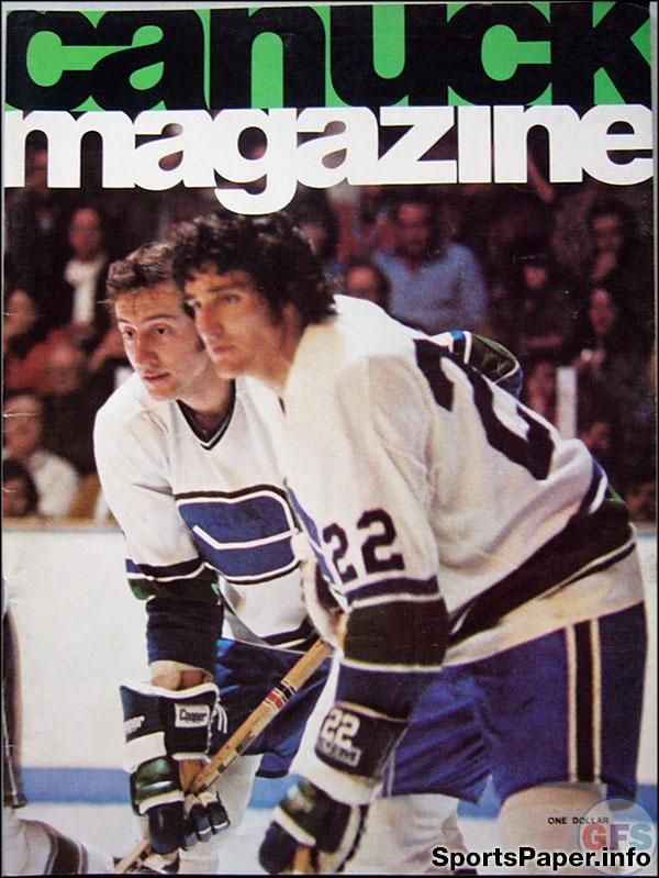 NHL Program: Vancouver Canucks (1974-75)