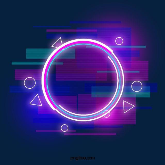 Borda Redonda De Neon Defeituoso Azul Roxo Holografico Circular Falha Imagem Png E Psd Para Download Gratuito Neon Design Neon Round Border