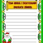 Freebie! The Night I Borrowed Santa's Sleigh - Writing Prompt  Enjoy this fun writing prompt! Includes color and b/w versions.