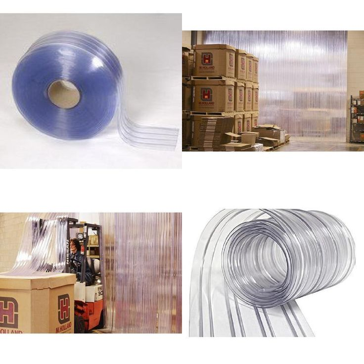 """Warehouse Door Strip Curtain Direct 150' Roll 8"""" Wide Ribbed PVC Plastic Coolers #StripCurtain"""