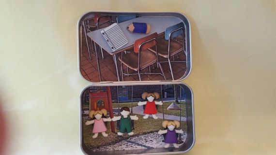 Altoids tin Pocket Toy school time by GramsLittleTreasures on Etsy