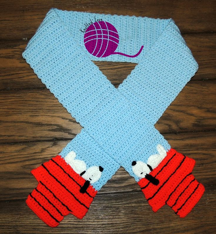 Knotted Love : Free pattern: Snoopy Scarf