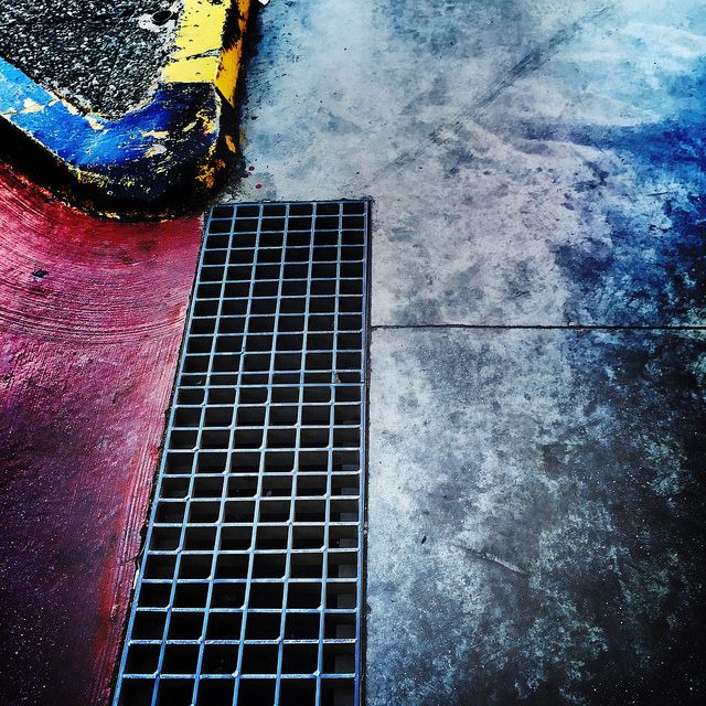 #drain #metal #cement #corner #iPhone | by Tryfon Tobias Pliatsikouris