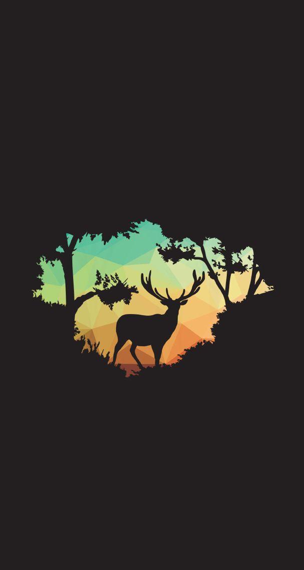 A cute buck wallpaper