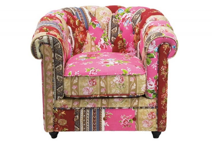 fauteuil chesterfield fleuri en coton boketa pour un confort maximum et une ambiance aussi. Black Bedroom Furniture Sets. Home Design Ideas