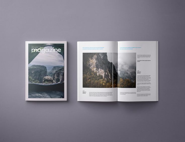 Psd Magazine Mockup Template Us A4 Magazine Mockup Mockup Template Mockup