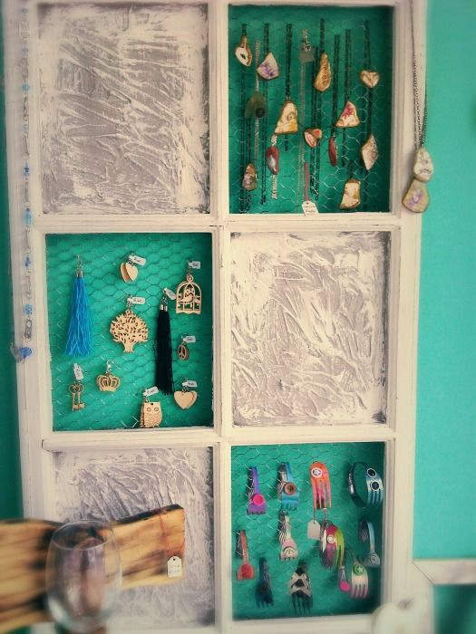 Our Boutique Store_ Old Window as Jewelry Display
