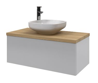 Rifco Sleek 900 vanity with timber top & Rifco Miami basin www.rifco.com.au