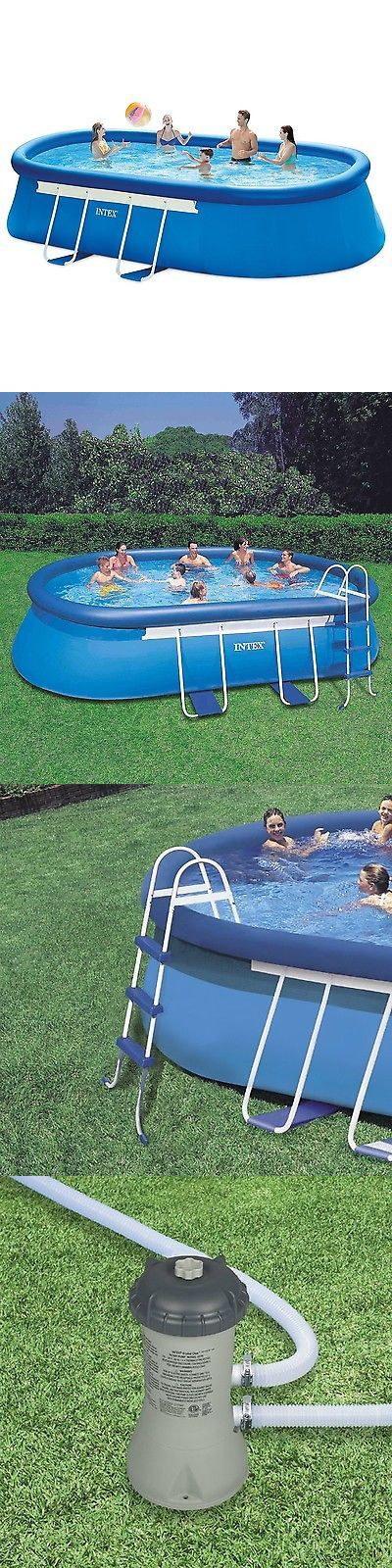 Above-Ground Pools 116405: Intex 18Ft X 10Ft X 42In Oval Frame Pool Set With Filter Pump Ladder Ground C... -> BUY IT NOW ONLY: $298.1 on eBay!