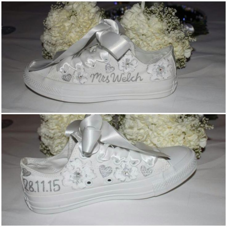 Personalised Wedding Converse ❄️