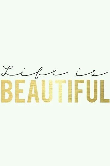 Life is a beautiful