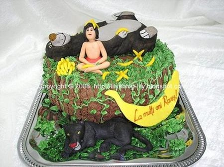 85 best Cakes Jungle Book images on Pinterest Jungle cake The
