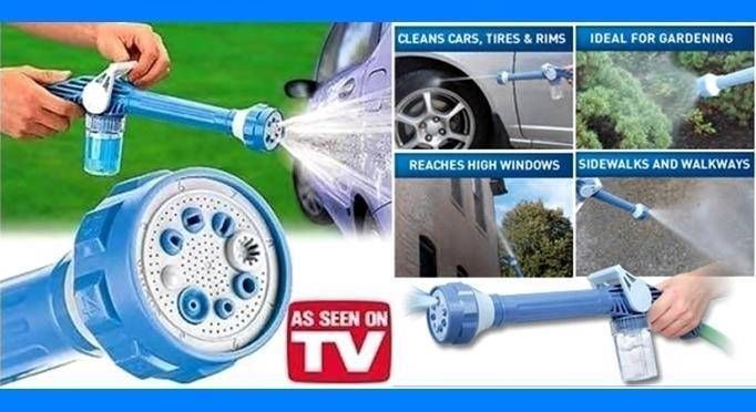 EZ Jet Water Cannon New  AS  SEEN  ON TV ~NEVER  USED ~BLUE ~GREAT XMAS GIFT #EZJetWaterCannonNewASSEENONTVNEVERU