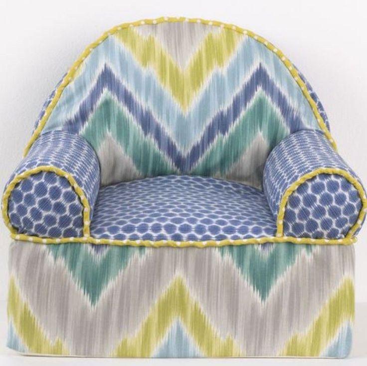 Babys Chevron Armchair Zebra Nursery Toddler Chair Multicolor Playroom Furniture | eBay