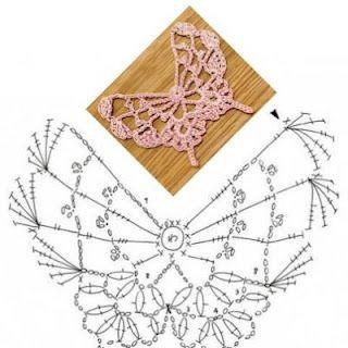 FREE DIAGRAM Crochet Butterfly