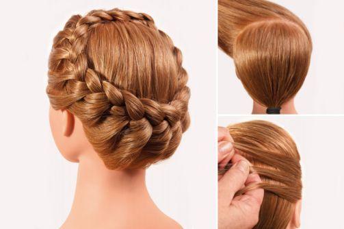 Technik Flechten: Annerose Cutivel´s klassicher Haarkranz