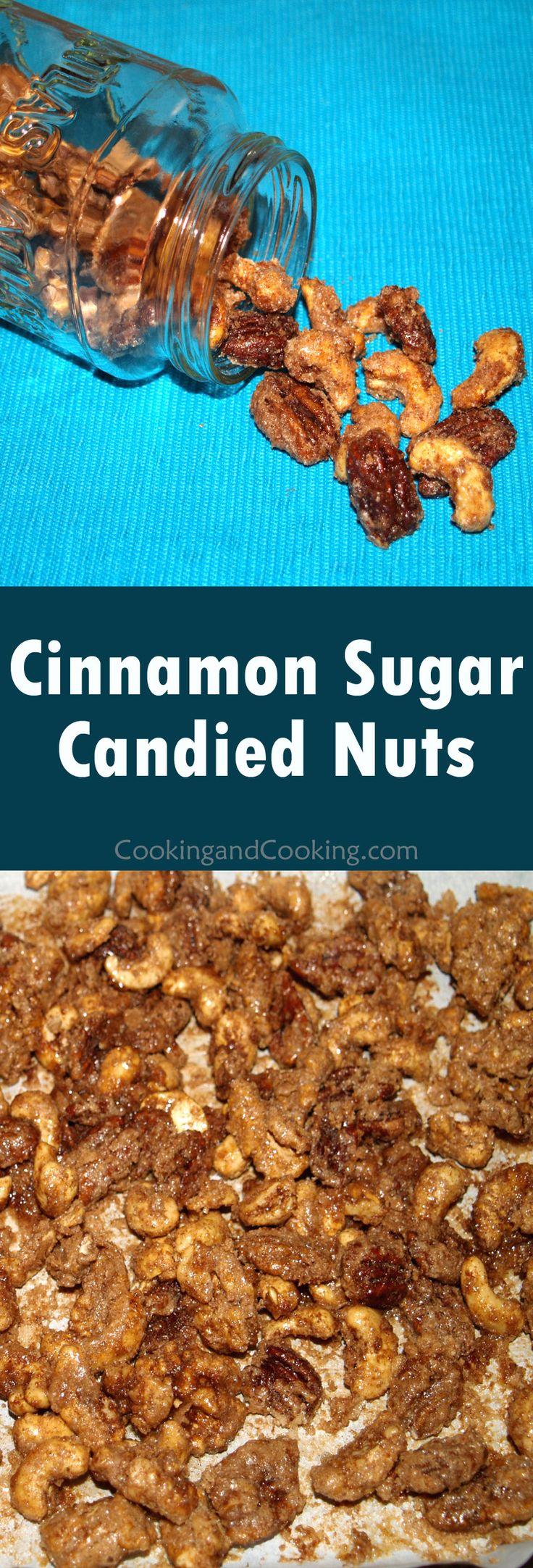 Cinnamon Sugar Candied Nuts Recipe