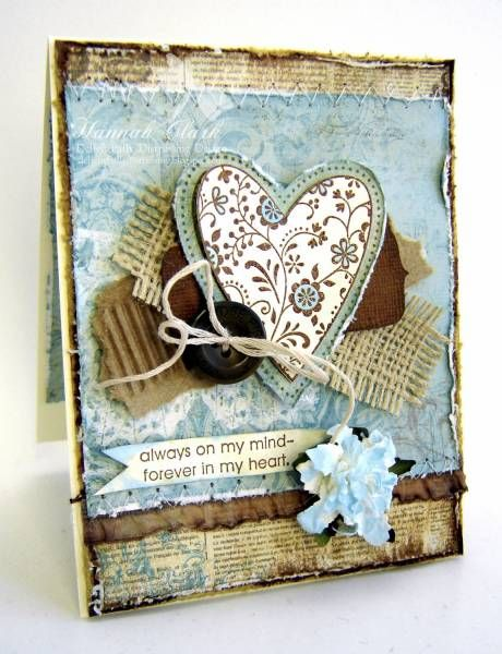 Shabby Vintage Valentine...by Clarhan by clarhan - Cards and Paper Crafts at Splitcoaststampers.