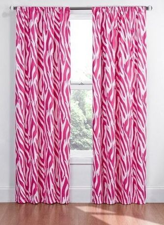 Mädchen Schlafzimmer Ideen, rosa Zebra Vorhänge – Kinderzimmer-Ideen – #ideas #I … – V …   – Vorhang