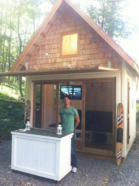 10x10 bunkie sleeps four featured on for Sleeping cabin plans