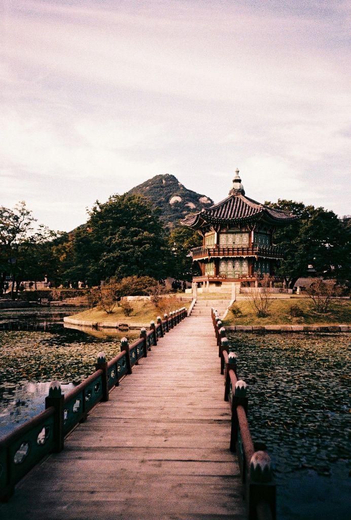 "lovesouthkorea: "" Hyangwonjeong pavilion, Gyeonbokgung, Seoul (by Roon & Beks) """