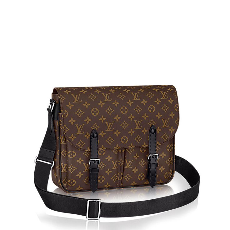 Christopher Messenger +Monogram Macassar Canvas - Men's Bags | LOUIS VUITTON