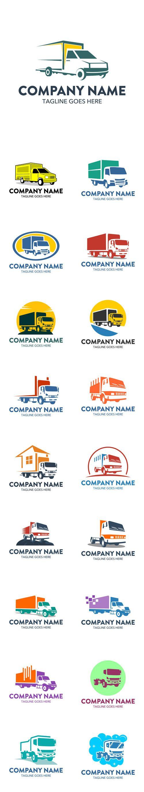Vector Freight Truck Logos
