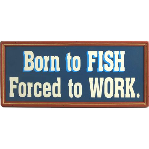 Funny Fishing Signs $20