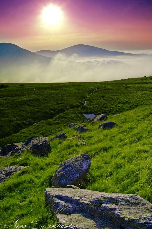 Snowdonia sunset by darkishtar.deviantart.com on @DeviantArt