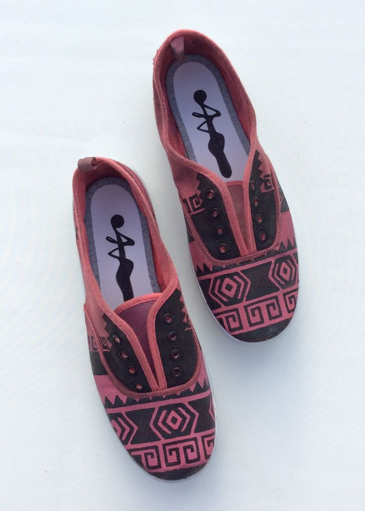 Maroon Aztec Shoes by 2Woo on Etsy