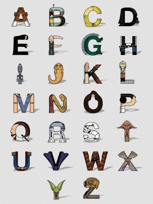 Star Wars Alphabet - Neatorama
