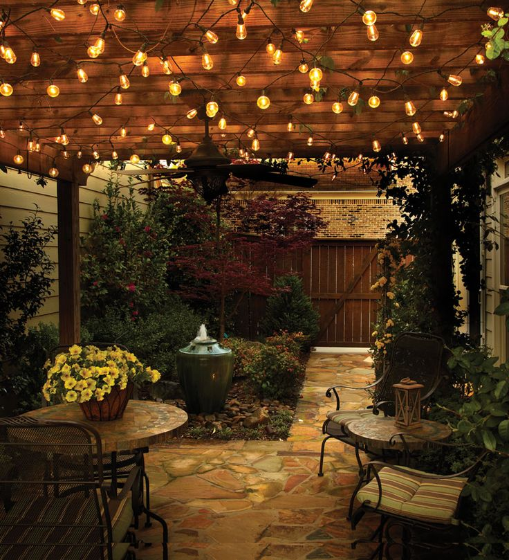 best 25+ outdoor globe string lights ideas on pinterest | hanging ... - Outdoor Lighting Patio Ideas