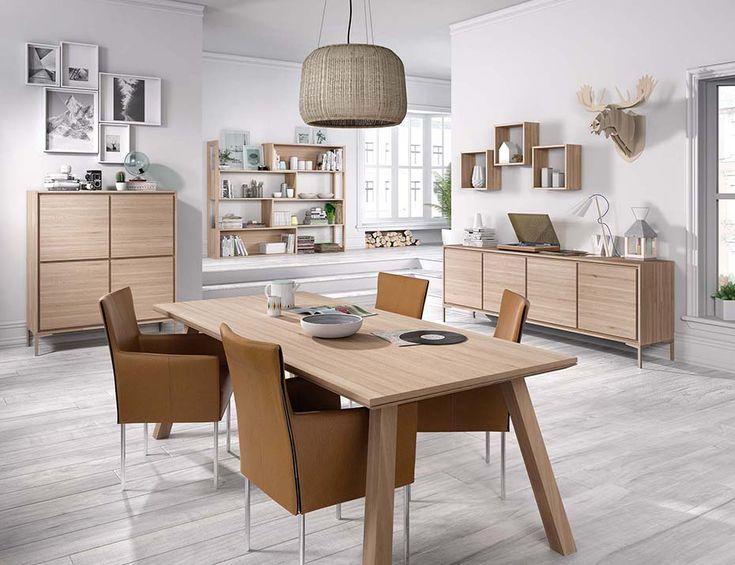 Cayenne Eetplaats met Barkast en Dressoir op Poten - Designtafel met Schuine Poten