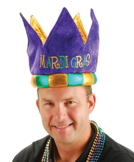 Plush Mardi Gras Crown | zulily